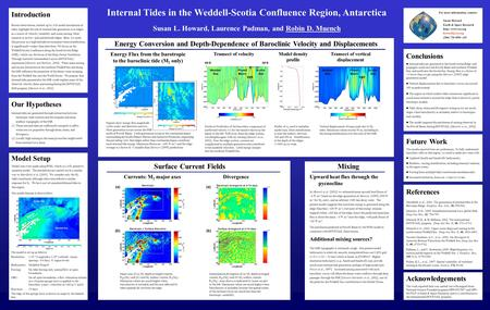 Internal Tides in the Weddell-Scotia Confluence Region, Antarctica Susan L. Howard, Laurence Padman, and Robin D. Muench Introduction Recent observations,