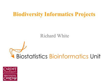 Richard White Biodiversity Informatics Projects. Thoughts Role of biodiversity data in bioinformatics – assisting with organising and retrieving bioinformatic.