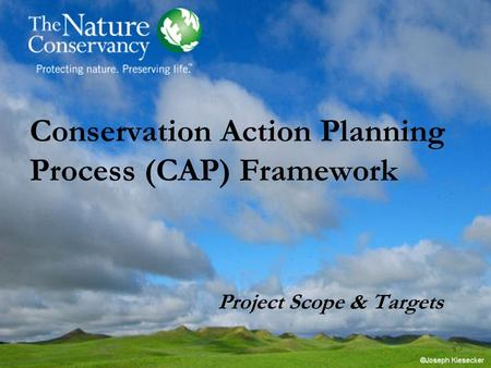 Conservation Action Planning Process (CAP) Framework Project Scope & Targets.