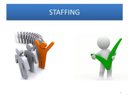 STAFFING 1. Introduction Staffing ProcessSystems approach to StaffingManpower PlanningObstacles in manpower planningTypes of RecruitmentEmployee Selection.