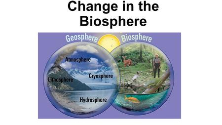 Change in the Biosphere. Changes in the Lithosphere 3.1 About 4.6 Billion years Humans have been around for about 100,000 years.