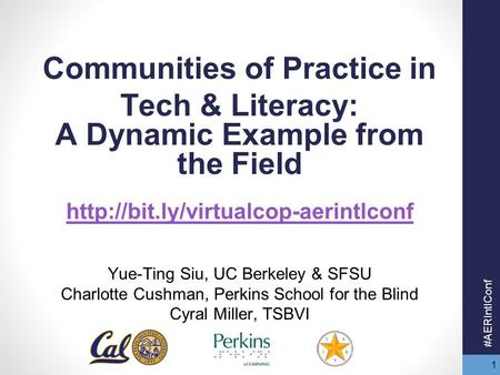 1 Communities of Practice in Tech & Literacy: A Dynamic Example from the Field