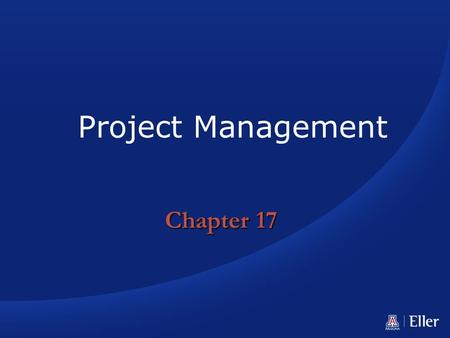 Project Management Chapter 17.