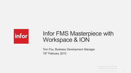 Infor FMS Masterpiece with Workspace & ION