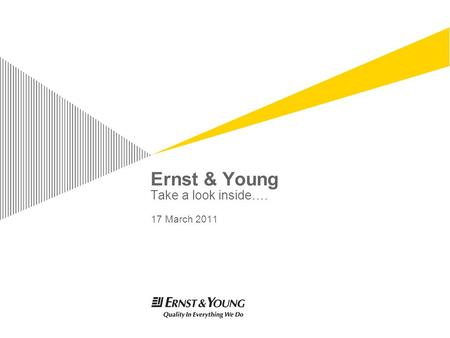 ernst and young presentation Today's top 15 ernst and young jobs in india leverage your professional network, and get hired new ernst and young jobs added daily.