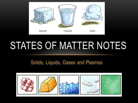 Solids, Liquids, Gases and Plasmas STATES OF MATTER NOTES.