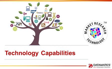 Technology Capabilities. Market Research + Tech Capabilities Datamatics has in-house capabilities to deliver Technical expertise. Our clients rely on.