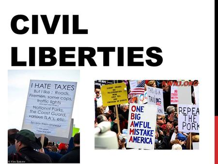 CIVIL LIBERTIES. THE POLITICS OF CIVIL LIBERTIES Civil liberties: protections the Constitution provides individuals against the abuse of government power.