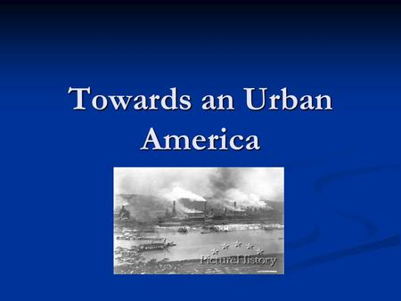 Towards an Urban America. Immigration Immigrants came to the U.S. for various reasons. They include: 1. Hope for better opportunity, i.e. land and jobs.