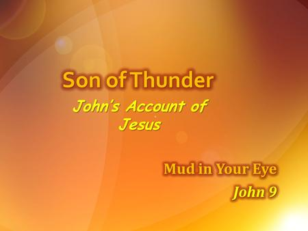 John's Account of Jesus