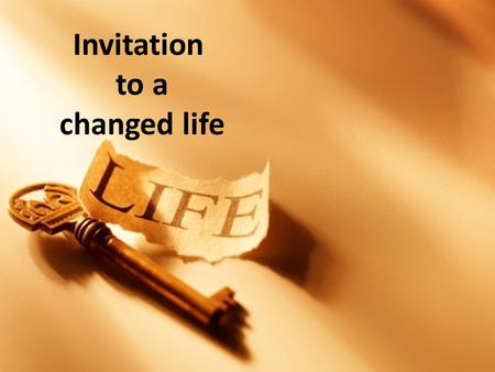 Invitation to a changed life. Freedom from Religion.