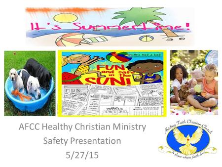 AFCC Healthy Christian Ministry Safety Presentation 5/27/15.