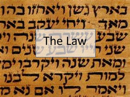 "The Law. The Tanakh ""the law and the prophets and the writings"" ©RC Wilkinson 2014 Used with permission."