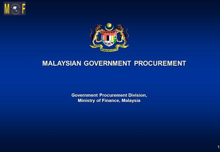 MALAYSIAN GOVERNMENT PROCUREMENT