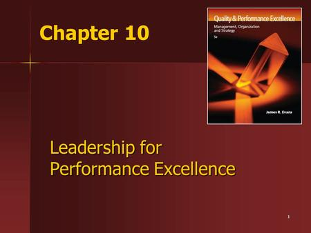 Leadership for Performance Excellence