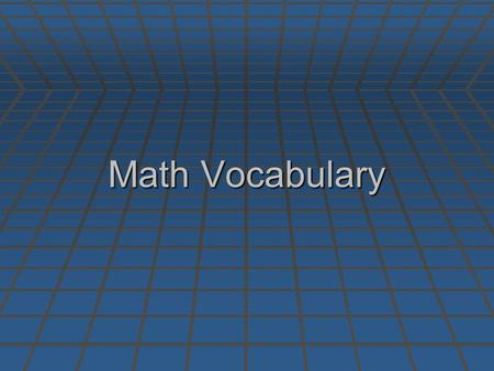 Math Vocabulary. Identity Property Of Addition Definition Example.
