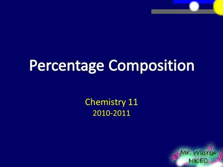 Chemistry 11 2010-2011. There are some compounds that we know have elements in fixed mass proportions. Water H 2 O  2 g : 16 g Carbon dioxide CO 2 