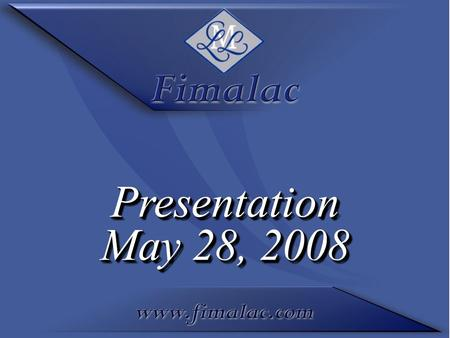 Presentation May 28, 2008 Presentation. Key figures of the first half 2007-2008 ending at March 31, 2008 (October 1, 2007 – March 31, 2008) Key figures.