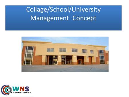 Collage/School/University Management Concept. Admin Main part 1) Reception login 2) Student login 3) Teachers login 4) Library login 5) Bus facility login.