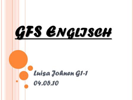 GFS E NGLISCH Luisa Johnen G1-1 04.05.10. Renewable Energy.