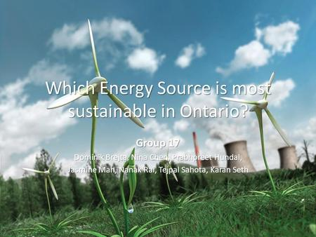 Which Energy Source is most sustainable in Ontario?
