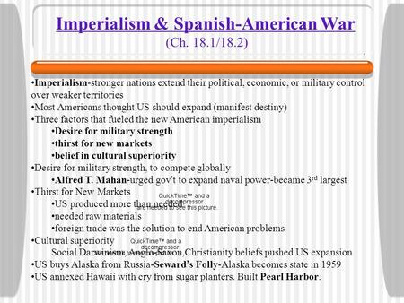 Imperialism & Spanish-American War