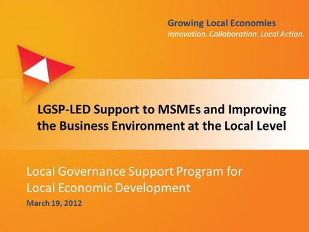 Local Governance Support Program for Local Economic Development