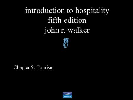 Chapter 9: Tourism.