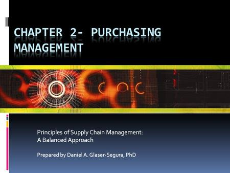 CHAPTER 2- PURCHASING MANAGEMENT