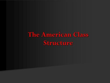 The American Class Structure. © Pine Forge Press, an Imprint of SAGE Publications, Inc., 2011 How Many Classes Are There? According to modern historians,