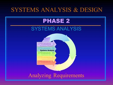 an introduction to the analysis of business systems 11 introduction in business, system analysis and design refers to the process of examining a overview of system analysis & design author : dr jawahar vetter: prof 12 over view of system analysis and design systems development can generally be thought of as having two.