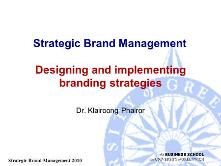 DESIGNING AND IMPLEMENTING BRANDING STRATEGIES - ppt video online ...