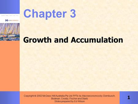1 Copyright  2002 McGraw-Hill Australia Pty Ltd PPTs t/a Macroeconomics by Dornbusch, Bodman, Crosby, Fischer and Startz Slides prepared by Ed Wilson.