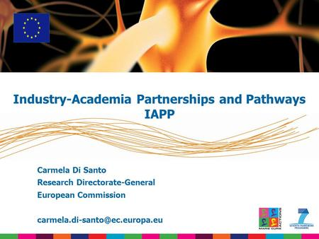 Carmela Di Santo Research Directorate-General European Commission Industry-Academia Partnerships and Pathways IAPP.