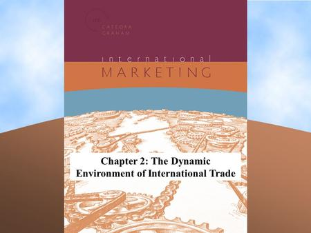 Chapter 2: The Dynamic Environment of International Trade.