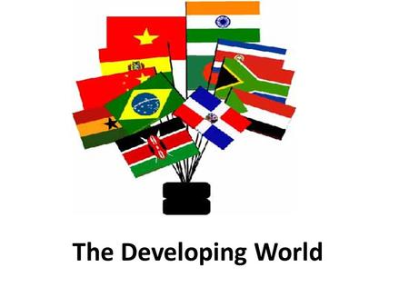 The Developing World. Presentation Outline 1)Characteristics of developing states 2)Economic comparisons between developing and developed states 3)Newly.