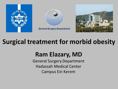 Surgical treatment for morbid obesity