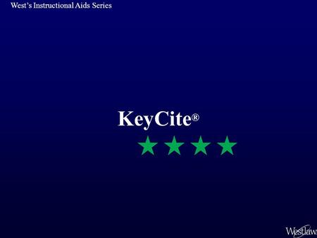 KeyCite ® West's Instructional Aids Series. Contents Introduction Cases: KeyCite History Cases: KeyCite Citing References Limiting KeyCite Citing ReferencesLimiting.