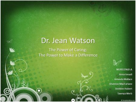 The Power of Caring: The Power to Make a Difference