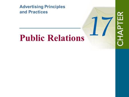 Public Relations Advertising Principles and Practices.