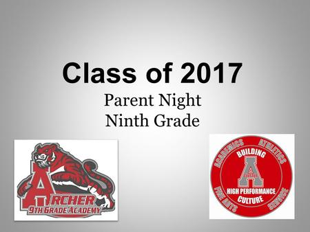 Class of 2017 Parent Night Ninth Grade. Report cards are issued two times a year, at the end of first semester in December, and at the end of second semester.
