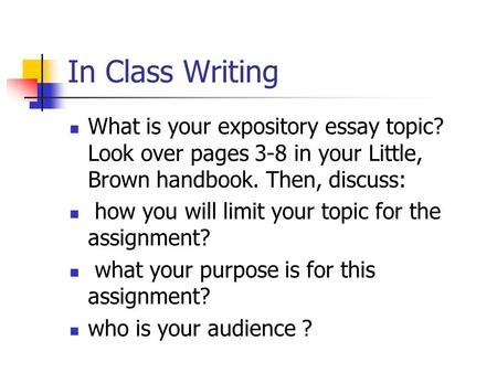 Topics For An Explanatory Essay