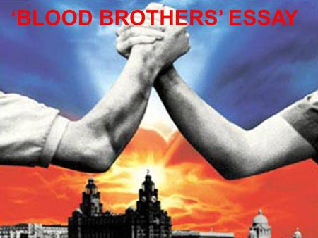 'BLOOD BROTHERS' ESSAY