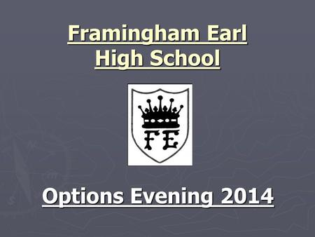 Framingham Earl High School Options Evening 2014.