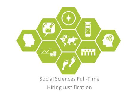 Social Sciences Full-Time Hiring Justification. Motivation Shared purpose, shared values Schedule construction – context & steps Enrollment strategies.