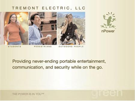Tremont Electric, LLC. Alternative Energy start-up company located in the Tremont neighborhood of Cleveland. Commercializing our proprietary technology.
