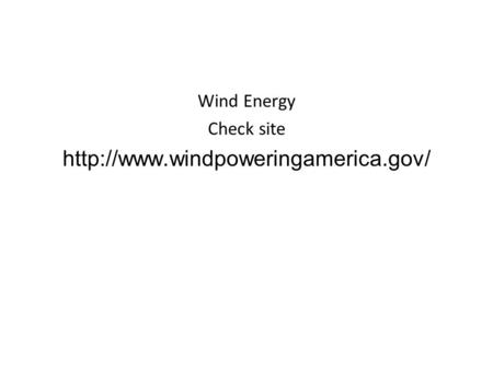 Wind Energy Check site