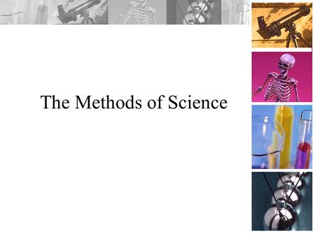 The Methods of Science Science Standards Covered PS – 1.1 Generate hypotheses on the basis of credible, accurate, and relevant sources of scientific.