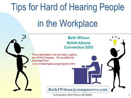 Tips for Hard of Hearing People in the Workplace