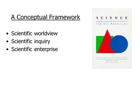 scientific method and conceptual framework Conceptual thinking and theory building is interrelated with the qualitative research method approach – grounded theory  framework or a set  scientific.
